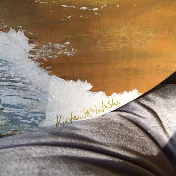 Original acrylic painting of Summer at Scorching Bay by Artist Kirsten McIntosh of Kirsten McIntosh Art.