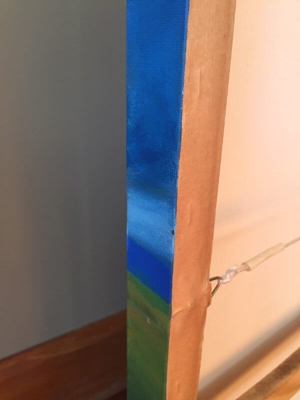 Original acrylic painting of 'The Explorer - Rapa Nui' by Artist Kirsten McIntosh of Kirsten McIntosh Art.