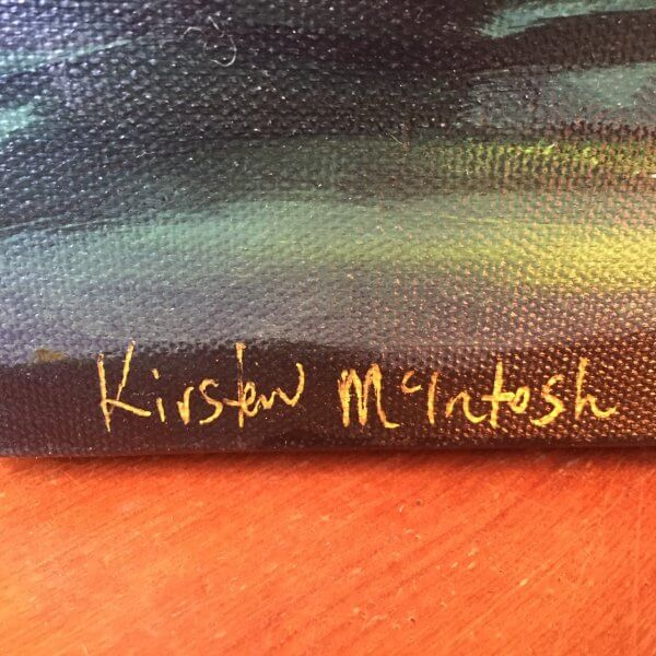Original oil painting of The Eye of the Beholder by Artist Kirsten McIntosh of Kirsten McIntosh Art.