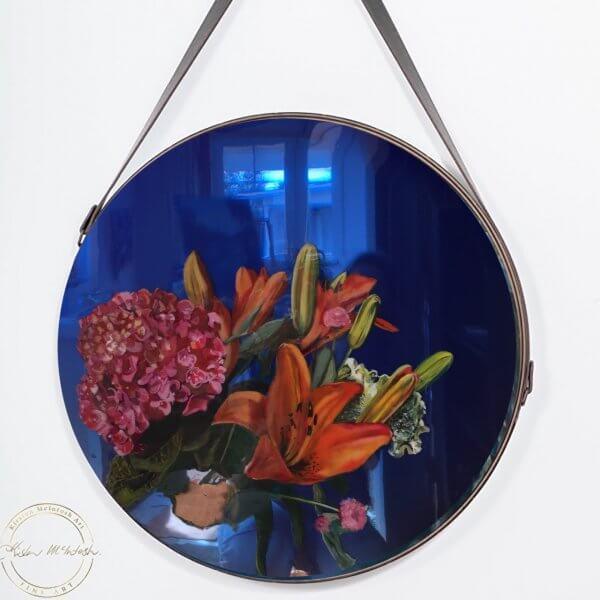 Original resin painting of Beautiful Bouquet by Artist Kirsten McIntosh of Kirsten McIntosh Art.