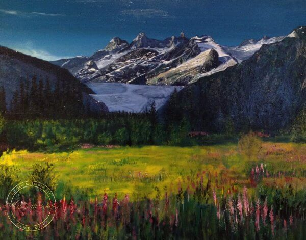 Original acrylic painting of 'Natures Light' by Artist Kirsten McIntosh of Kirsten McIntosh Art.