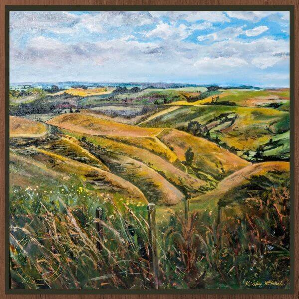Original oil painting of Towards Te Aroha by Artist Kirsten McIntosh of Kirsten McIntosh Art.