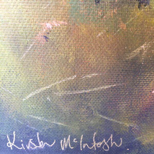 Original Acrylic Painting of 'Birds Eye View of Raglan' by Artist Kirsten McIntosh of Kirsten McIntosh Art