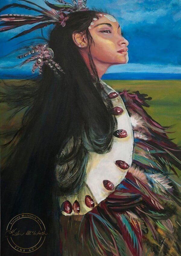 Original acrylic painting of 'The Explorer - Rapa Nui' by Artist Kirsten McIntosh of Kirsten McIntosh Art