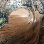 Original Acrylic Painting of West Coast Surf by Artist Kirsten McIntosh of Kirsten McIntosh Art