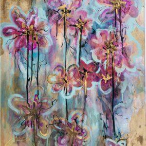Original acrylic painting Vibrant Petals by Artist Kirsten McIntosh of Kirsten McIntosh Art