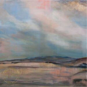 Original oil painting of Maungatautari Mountain by Artist Kirsten McIntosh of Kirsten McIntosh Art