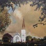 Original oil painting of Autumn Light at St Andrews by Artist Kirsten McIntosh of Kirsten McIntosh Art.