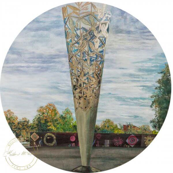 Original acrylic painting of Challice New Millenium by Artist Kirsten McIntosh of Kirsten McIntosh Art.
