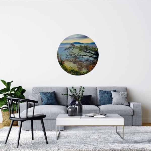 Original oil painting of Lake Edge-Rotorua by Artist Kirsten McIntosh of Kirsten McIntosh Art.