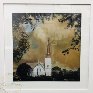 Limited Edition Framed Print of Autumn Light at St Andrews by Artist Kirsten McIntosh of Kirsten McIntosh Art.