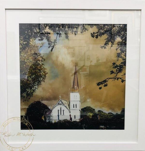 Limited Edition Framed Print of Autumn Light at St Andrews by Artist Kirsten McIntosh of Kirsten McIntosh Art.