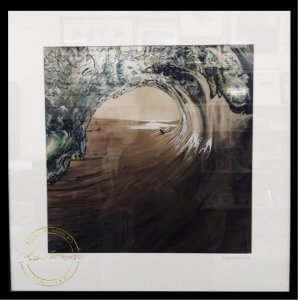 Limited Edition Framed Print of West Coast Surf by Artist Kirsten McIntosh of Kirsten McIntosh Art