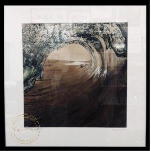 Limited Edition Framed Print of West Coast Surf by Artist Kirsten McIntosh of Kirsten McIntosh Art