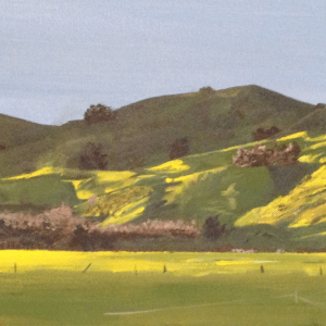 Original acrylic painting of Fencourt Hills by Artist Kirsten McIntosh of Kirsten McIntosh Art.