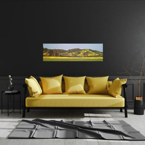 Original acrylic painting of Fencourt Hills by Artist Kirsten McIntosh of Kirsten McIntosh Art.