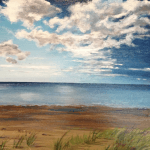Original acrylic painting of Onetangi Grasses by Artist Kirsten McIntosh of Kirsten McIntosh Art.