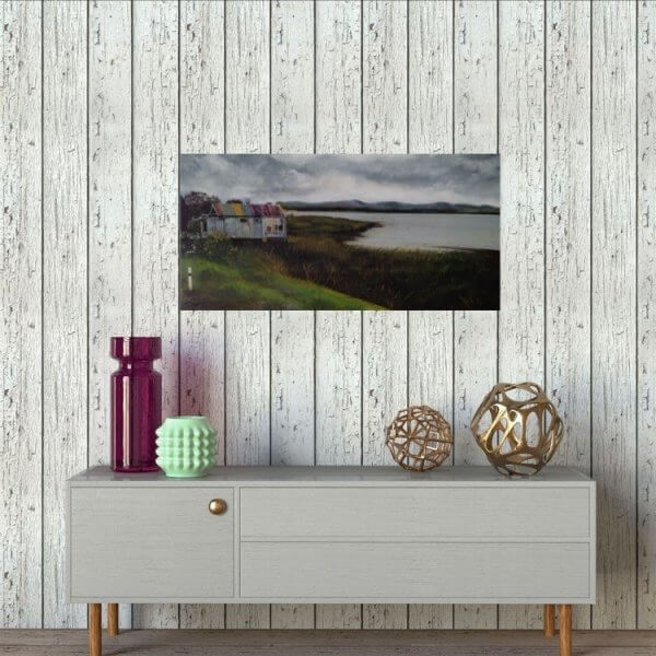 Original acrylic painting of Port Waikato Road Scene 2 by Artist Kirsten McIntosh of Kirsten McIntosh Art.