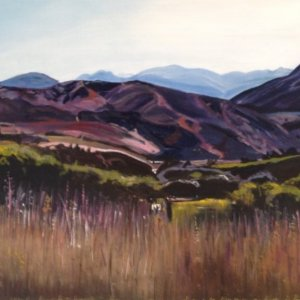 Original acrylic painting of Pushing the Bourndaries of Beauty - Cardrona by Artist Kirsten McIntosh of Kirsten McIntosh Art.