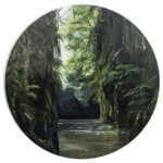 Original oil painting of 'The Tranquility of Pokaiwhenua Canyon' by Artist Kirsten McIntosh of Kirsten McIntosh Art.