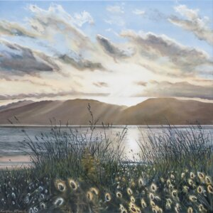 Original oil painting of 'Light on the Dunes' by Artist Kirsten McIntosh of Kirsten McIntosh Art.