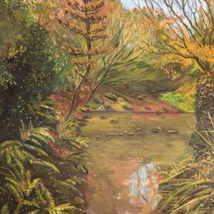 Original oil painting of Lost in Moments by Artist Kirsten McIntosh of Kirsten McIntosh Art.