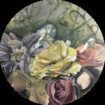 Original Oil painting of 'Beauty in Bloom' by Artist Kirsten McIntosh of Kirsten McIntosh Art.