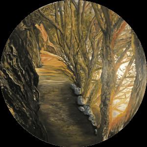 Original oil painting of 'Winters' Aura by Artist Kirsten McIntosh of Kirsten McIntosh Art